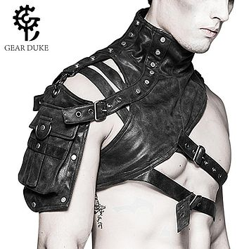 Gothic Steampunk Leather Armor Holster Bag