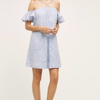 Dayflower Off-Shoulder Dress, Blue