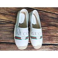 GUCCI tide brand women's wild straw straw wild fisherman shoes