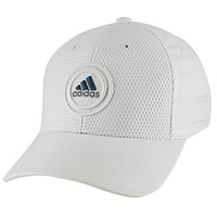 adidas Men's Soldier Stretch Fit Structured Cap, Large/X-Large, White/Grey/Mineral Blue