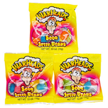 WarHeads Sour Jelly Beans Fun Size Packets: 5LB Bag