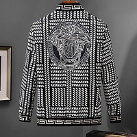 VERSACE Fashion Men Women Casual Zipper Cardigan Jacket Coat