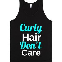 Curly Hair, Dont Care Tank top-Unisex Black Tank