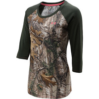UNDER ARMOUR Women's Charged Cotton Camo 3/4-Sleeve T-Shirt