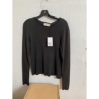 Back Beat Co Fitted - Long Sleeve Waffle Top (last one - Size L)