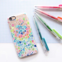 Colorful Rainbow Cubes and Diamonds on Transparent iPhone 7 Case by Micklyn Le Feuvre | Casetify (iPhone 6s 6 Plus SE 5s 5c & more)