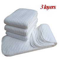New Baby Diaper Washable Reusable Cloth Nappy 3 layer Merries Baby Diaper Insert Boy Girl Microfiber Nappy Changing