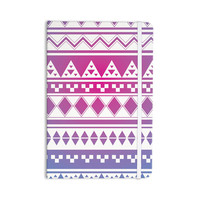 "Belinda Gilles ""Rainbow Aztec"" Purple Blue Everything Notebook"