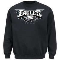 Philadelphia Eagles Critical Victory VIII Crewneck Sweatshirt Gray Big and Tall Sizes