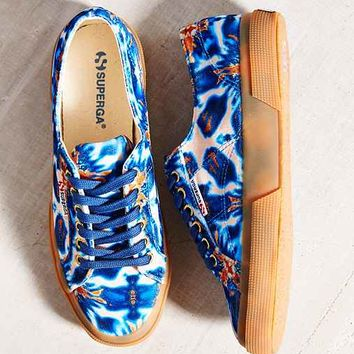 Superga 2750 Velvetolmow Batik Low-Top Sneaker- Blue Multi
