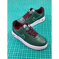 Nike Air Force 1 Af1 Low Hong Kong Dark Forest Green 845053-300 2018 Retro Sport Shoes
