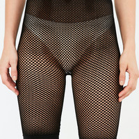 Out From Under Fishnet Seamless Bike Short | Urban Outfitters