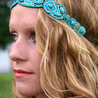 Steal The Show Headband: Turquoise