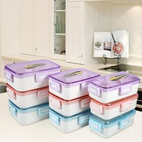 Food Grade Fruit Storage Container Lunch Storage Microwave Cutlery Portable Food Container For Students