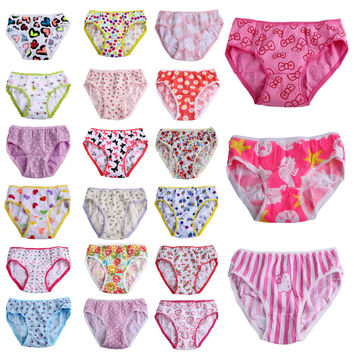 6pcs/pack Girls Underwear Cotton Panties Short Briefs(Multi Designs)