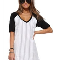 Batter Up Tee Shirt Dress