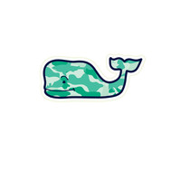 Camo Whale Sticker Pack (Set of 5)