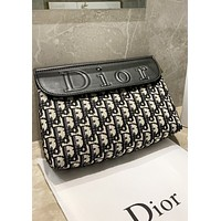 DIOR Fashion New More Letter Leather Shoulder Bag Crossbody Bag Women
