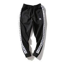 ADIDAS Woman Men Fashion Print Drawstring Pants Trousers