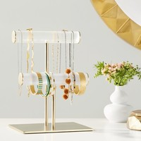 Ava Frosted Acrylic Double Bar Jewelry Stand