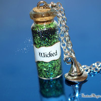 WICKED Magical Necklace with a Witch's Hat Charm, Once Upon a Time, Wicked, The Wizard of Oz, ABC Television, Broadway, by Fandom Magic