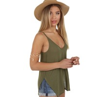 Olive All In Fun Tank