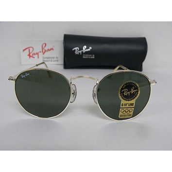 Cheap New Vintage B&L Ray Ban Small Round Metal 47mm Silver G-15 W2103 USA NOS outlet