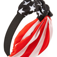 American Flag Knotted Headwrap