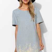 Beautifully Stamp-Print Chambray Tunic - Urban Outfitters