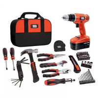 Black & Decker 18V Cordless NiCad Drill/Driver with 64-Piece Complete Home Project Kit - Walmart.com