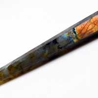 15.5cm natural stones and minerals labradorite wand point healing home decoration accessories
