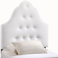 Sovereign Twin Vinyl Headboard in White