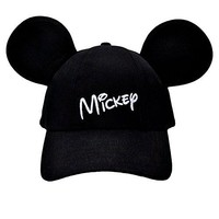 Disney Youth Hat Kids Cap with Mickey Mouse Ears (Mickey Black)