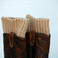 Crocheted Boot Toppers - Cuffs - Legwarmers