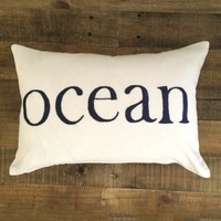 Maka Sea - Kai Ocean Pillow | Navy