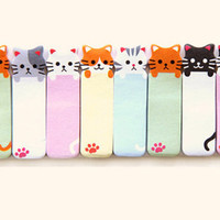 Mini 150 Count Cat Post It Sticky Bookmark Notepad Office School Supplies