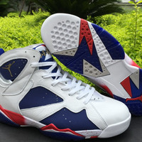 "Air Jordan 7 ""Tinker Alternate"" Mens Womens Basketball Shoes"