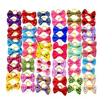 80pcs Pet Dog Hair Accessories Rubber Bands Pet Cat Hair Bows Pet Dot Grooming Products Pet shop Dog Accessories  30 styles
