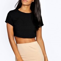 Margot Crepe Crop Short Sleeve Shell Top - Essentiels D'hiver - Collections