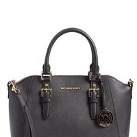 MICHAEL Michael Kors 'Large Bedford' Top Zip Saffiano Leather Satchel