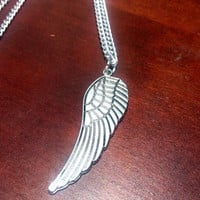 Sterling silver angel wing necklace - angel wing charm necklace - wing necklace - silver angel necklace - minimalist jewelry