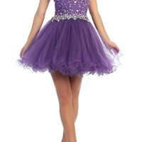 PRIMA C1513 Jeweled Ballet Homecoming Cocktail Dress