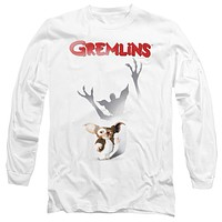 Gremlins Long Sleeve T-Shirt Shadow Poster White Tee