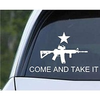 Come and Take It AR-15 Die Cut Vinyl Decal Sticker