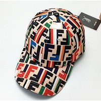 Fendi High Quality New Fashion Multicolor More Letter Sunscreen Women Men Cap Hat