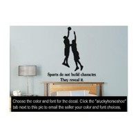 """Sports Quote, Basketball, Large 33"""" X 28"""" vinyl wall decal"""