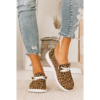 Walking By Leopard Boat Sneakers (Leopard)