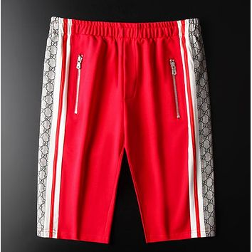 GUCCI New fashion more letter print shorts men Red