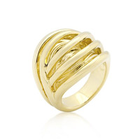 Golden Illusion Fashion Ring, size : 10