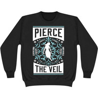 Pierce The Veil Men's  Holiday Blue Sweatshirt Black